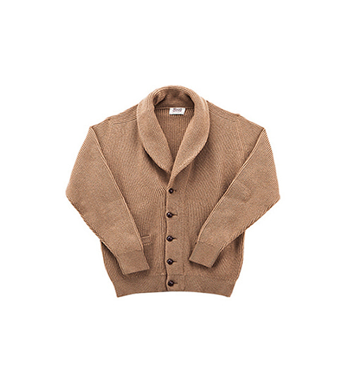 Windsor Camelhair Shawl Collar Cardigan Natural