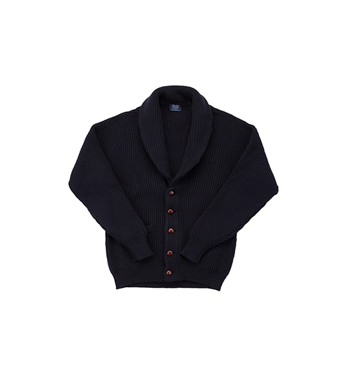 Windsor Shawl Collar Cardigan Navy