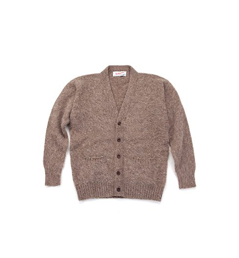 Shaggy Dog V-Neck Cardigan Nutmeg