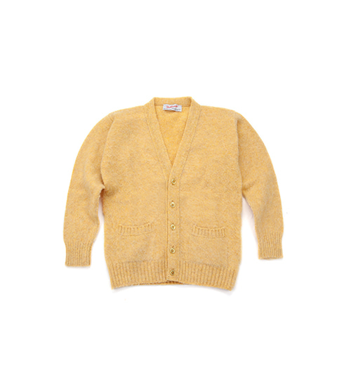 Shaggy Dog V-Neck Cardigan Marzipan