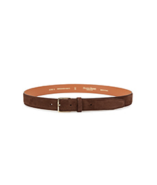 Brown Calf Suede Belt