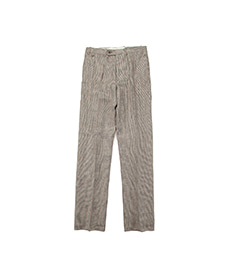 BAC J Double Pleats Linen Houndtooth Multi