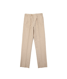BAC J Double Pleats Slab Cotton Beige