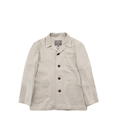 Casual Linen Shacket Natural