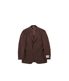 New Balloon Jacket Brown Solid