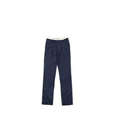 Reverse Pleats Washed Chino Navy