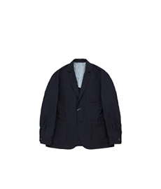 Ritz Jacket Linen Wool Navy