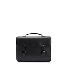 Wymington Briefcase Black Miret Bridle Leather
