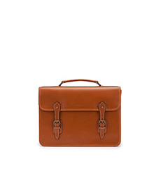 Wymington Briefcase Tan Miret Bridle Leather