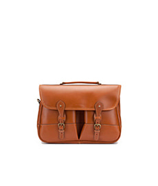 Clipper Leather Satchel Tan Miret