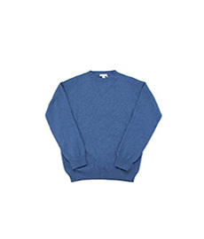 Lambswool Crew Neck Sweater Wood Melange