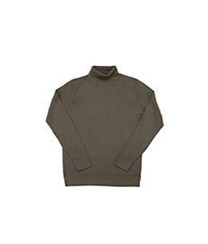 Merino Roll Neck Jumper Military Green