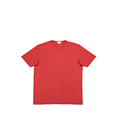 Short Sleeve Classic Crew Neck T-Shirt Cherry Red