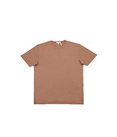 Short Sleeve Classic Crew Neck T-Shirt Tobacco