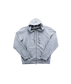 Loopback Zip Hoody Grey Melange