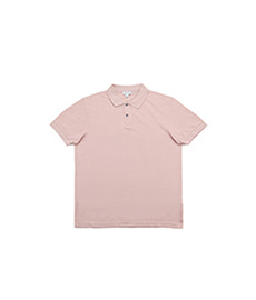 Short Sleeve Pique Polo Dusty Pink