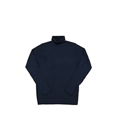 Merino Roll Neck Jumper Light Navy