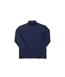 Cotton Roll Neck Navy