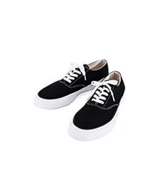 Deck Shoes Low White Sole Black