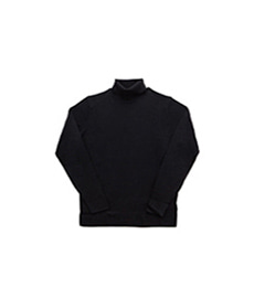 Merino Roll Neck Jumper Black