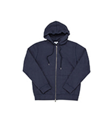 Loopback Zip Hoody Navy