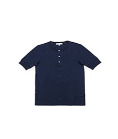 207 Henley S.Sleeve Ink Blue