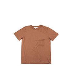 215P Classic Crew Neck Pocket T-Shirt Nut