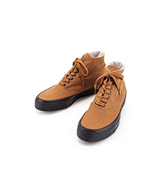 Deck Shoes High Black Sole Brown