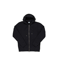 Loopback Zip Hoody Black