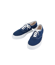 Deck Shoes Low White Sole Navy