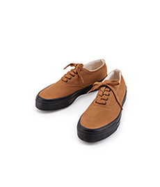 Deck Shoes Low Black Sole Brown