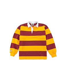 Classic Rugby Jersey Maroon/Tangerine
