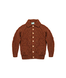 Lumber Cardigan Donegal Tweed Copper