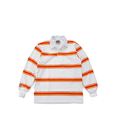Classic Rugby Jersey White/Lemon/Burnt Orange