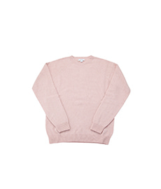 Lambswool Crew Neck Jumper Dusty Pink