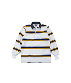 Classic Rugby Jersey White/Gold/Navy
