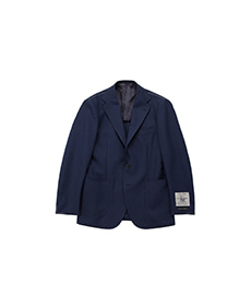 Single Jacket Navy Hopsack
