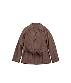 Hospital Jacket Linen Brown