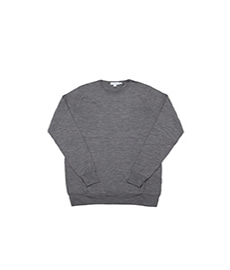 Crew Neck Jumper Mid Grey Melange