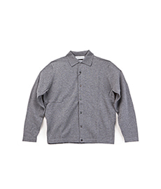 Polo Cardigan Grey