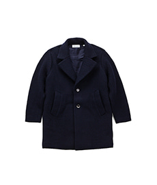 Puffy Tuck Coat Navy