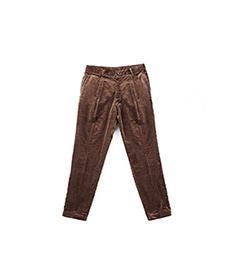 Sea Island Pleats Pants Brown