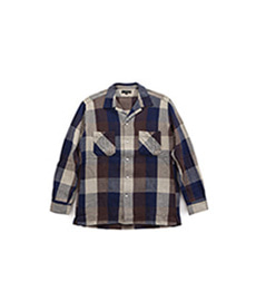 Absinth Shirt Indigo Plaid