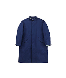 Double Face Stand Coat Blue