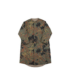 Cotton Shell No Collar Coat German Camo/Khaki