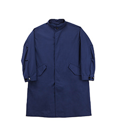 Twill Stand Coat Blue