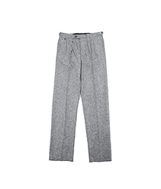 BAC J Double Pleats Donegal Tweed Grey