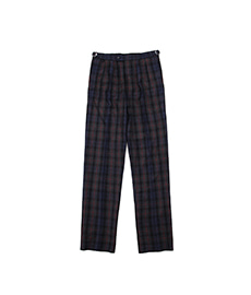 BAC J Double Pleats Red/Grey/Blue Check