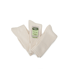 Organic Cotton Crew Classic Socks Natural - 3 Pak